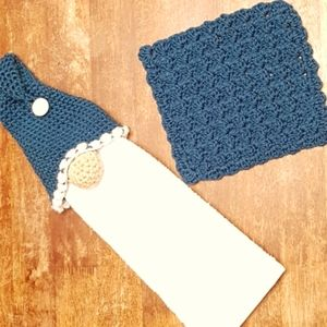 Handmade Gnome towel holder